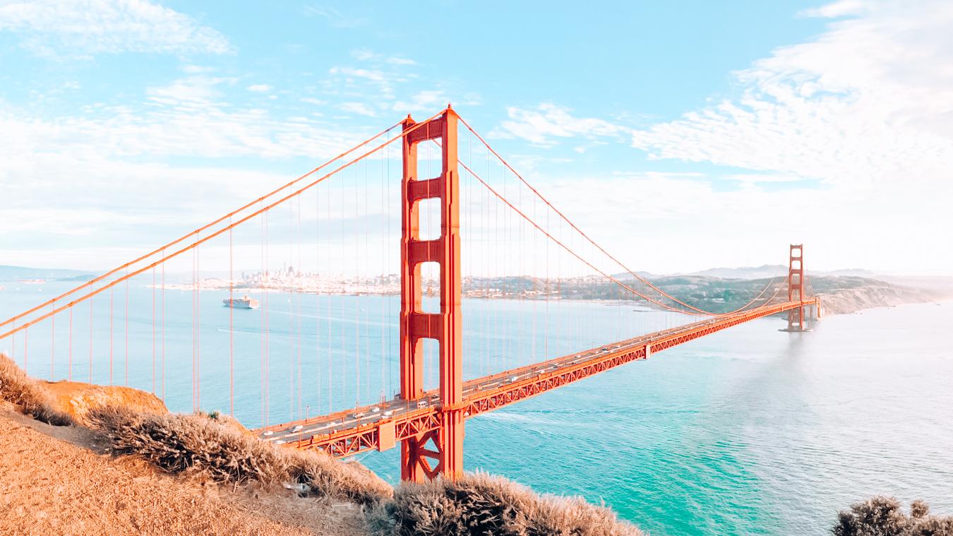 Instagrammable view of Golden Gate Bridge in San Francisco