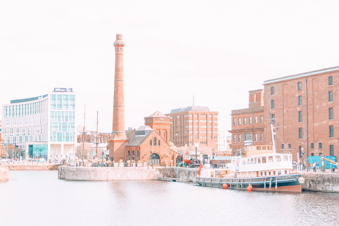 Buildings and water in Liverpool