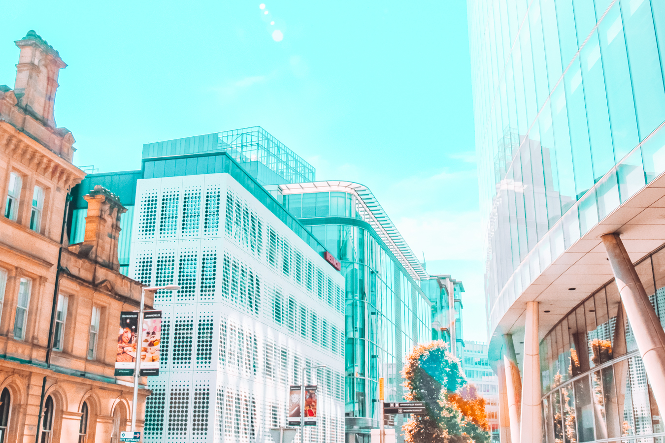 A view of buildings in Manchester