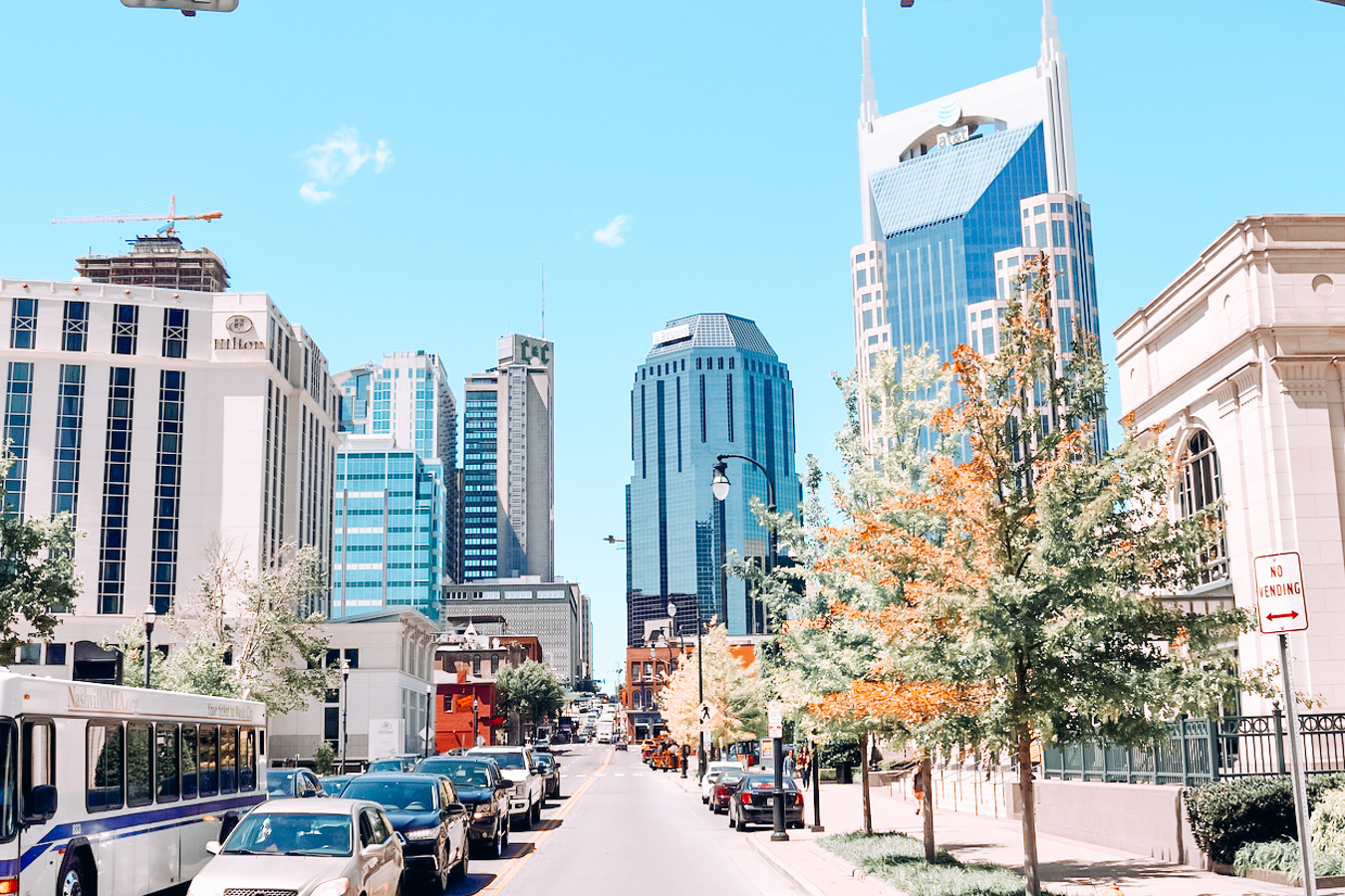 Street and buildings in Nashville