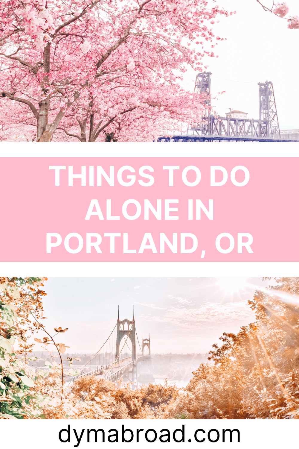 Things to do alone in Portland second Pinterest image