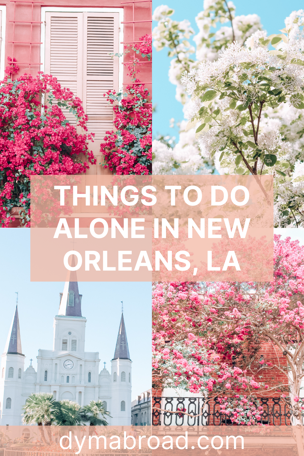 Things to do alone in New Orleans second Pinterest image