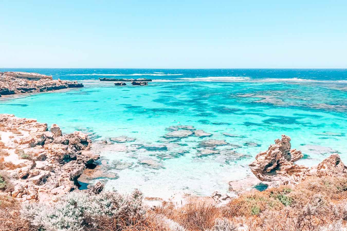 Blue water at Rottnest Island