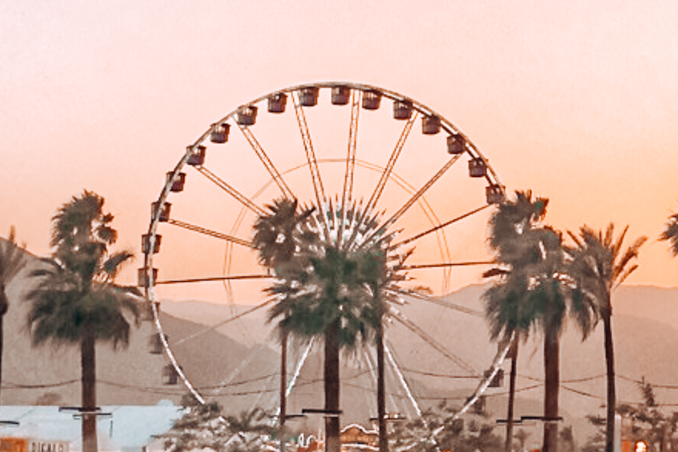 Instagrammable Ferris wheel at Coachella Valley Music and Arts Festival in Palm Springs