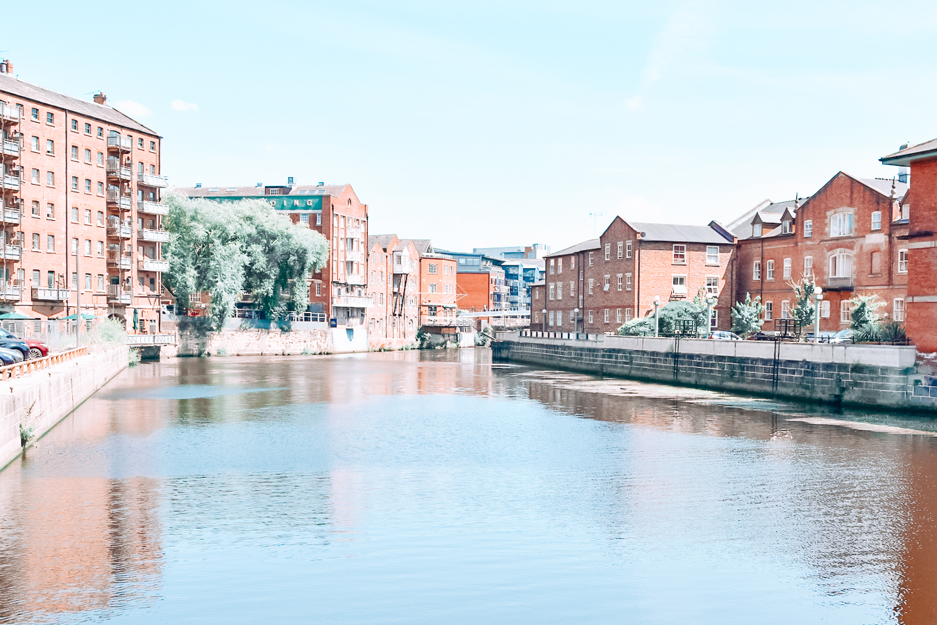 Water and buildings in Leeds