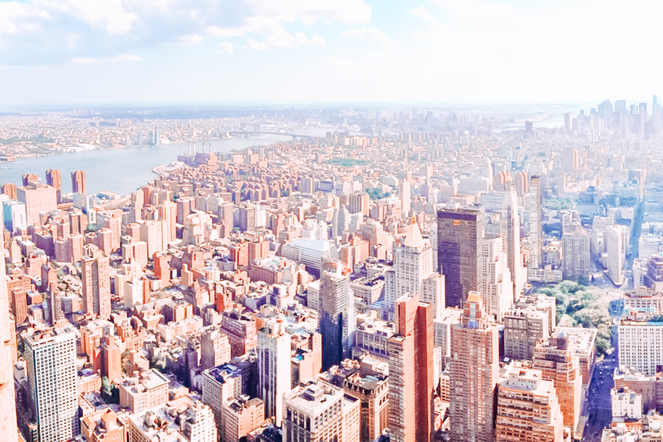 Buildings in New York City from above