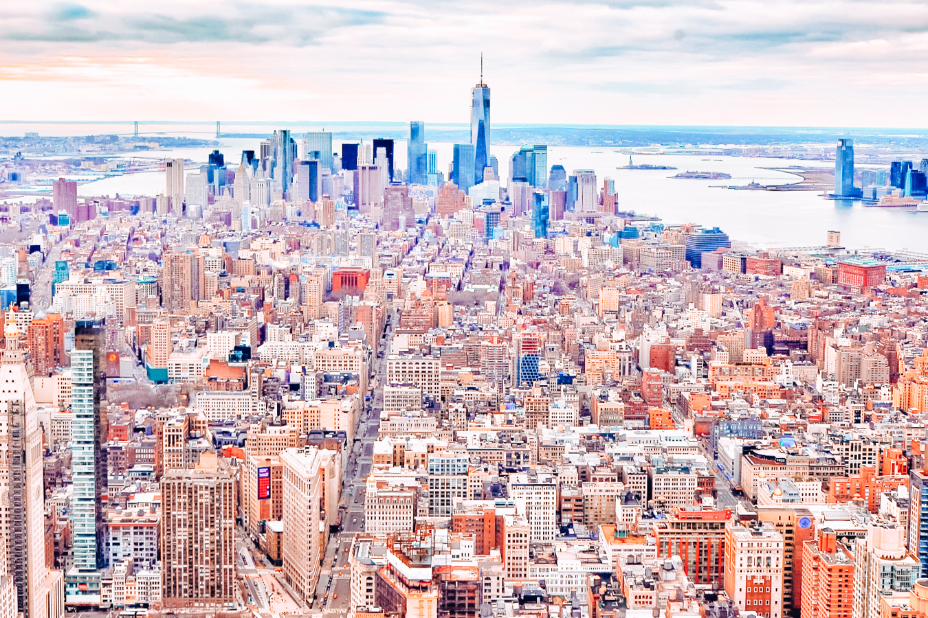 A view of New York City from above