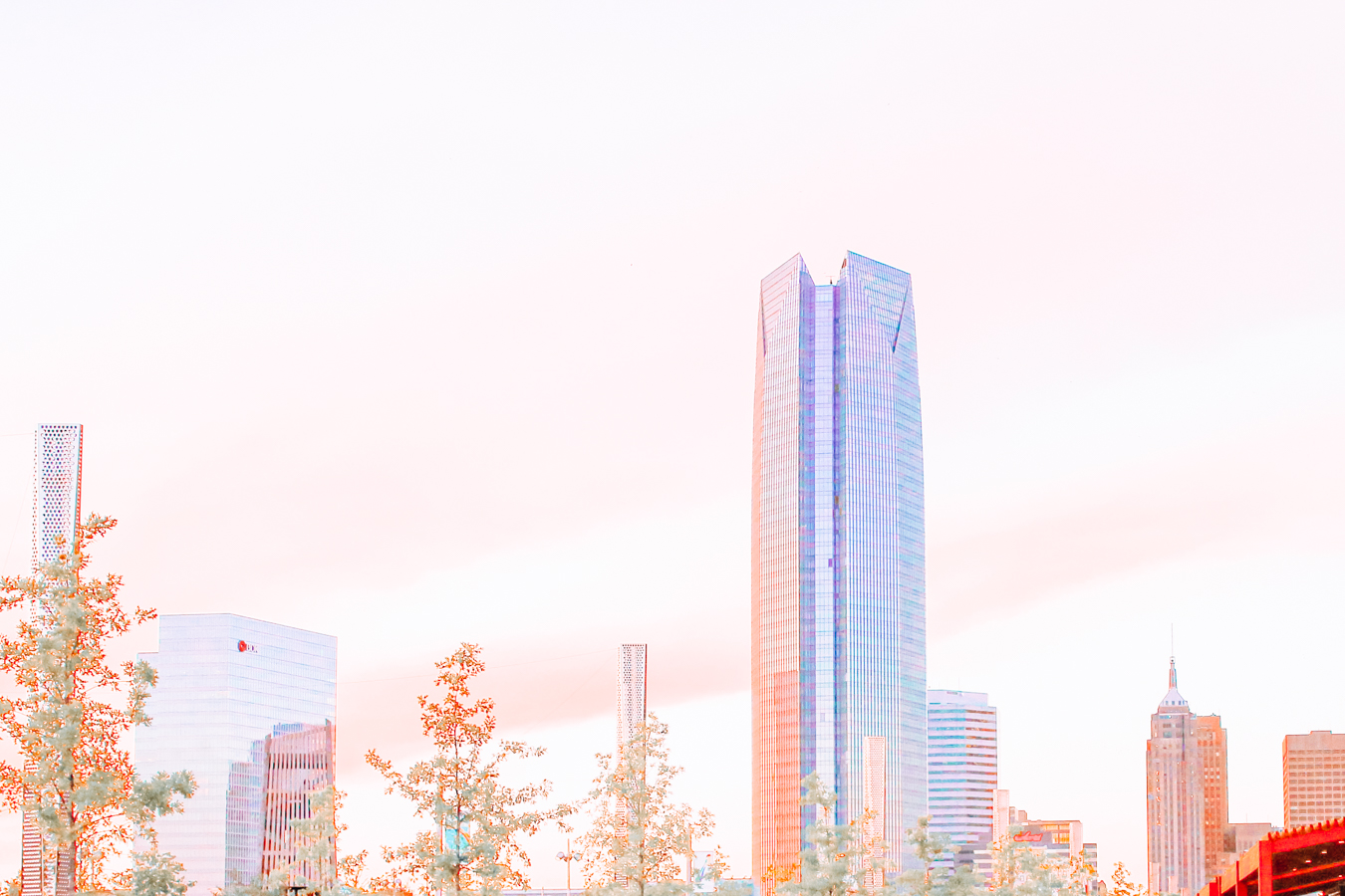 Trees and buildings in Oklahoma City