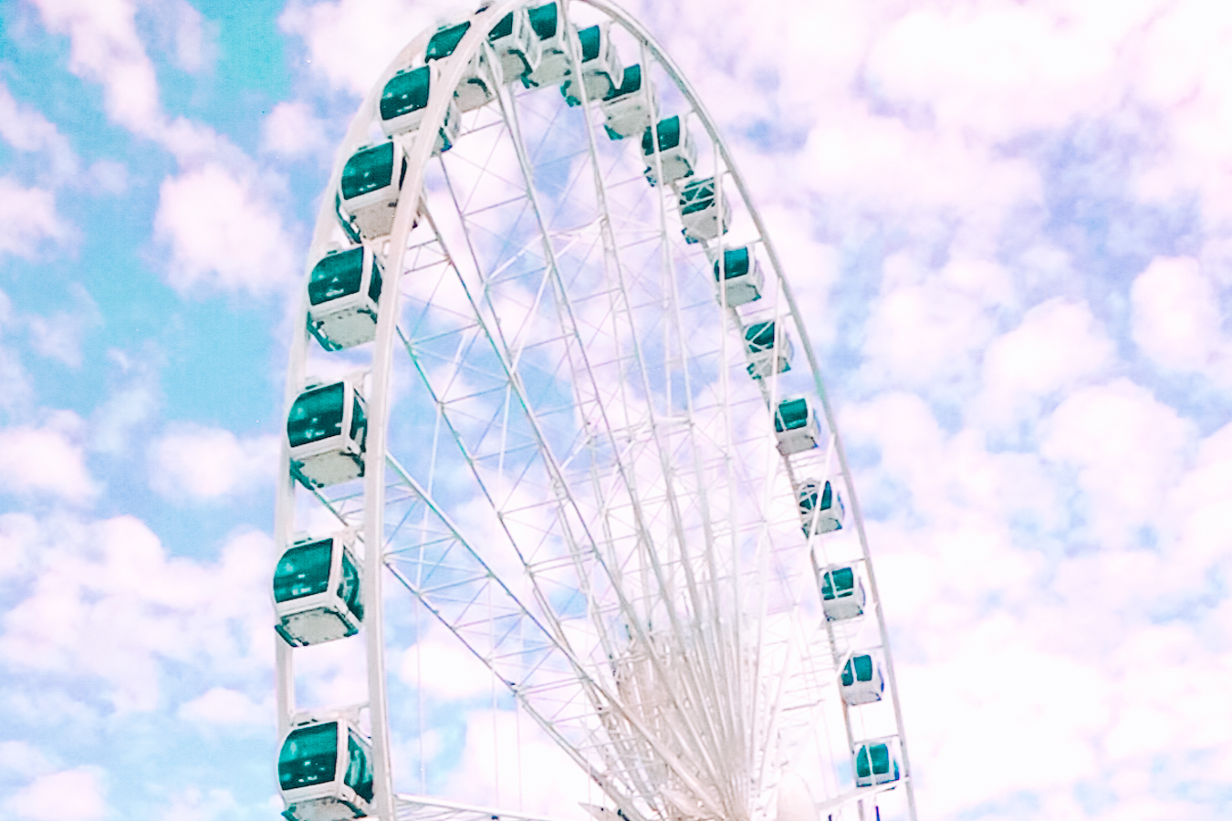 Ferris wheel and a blue sky