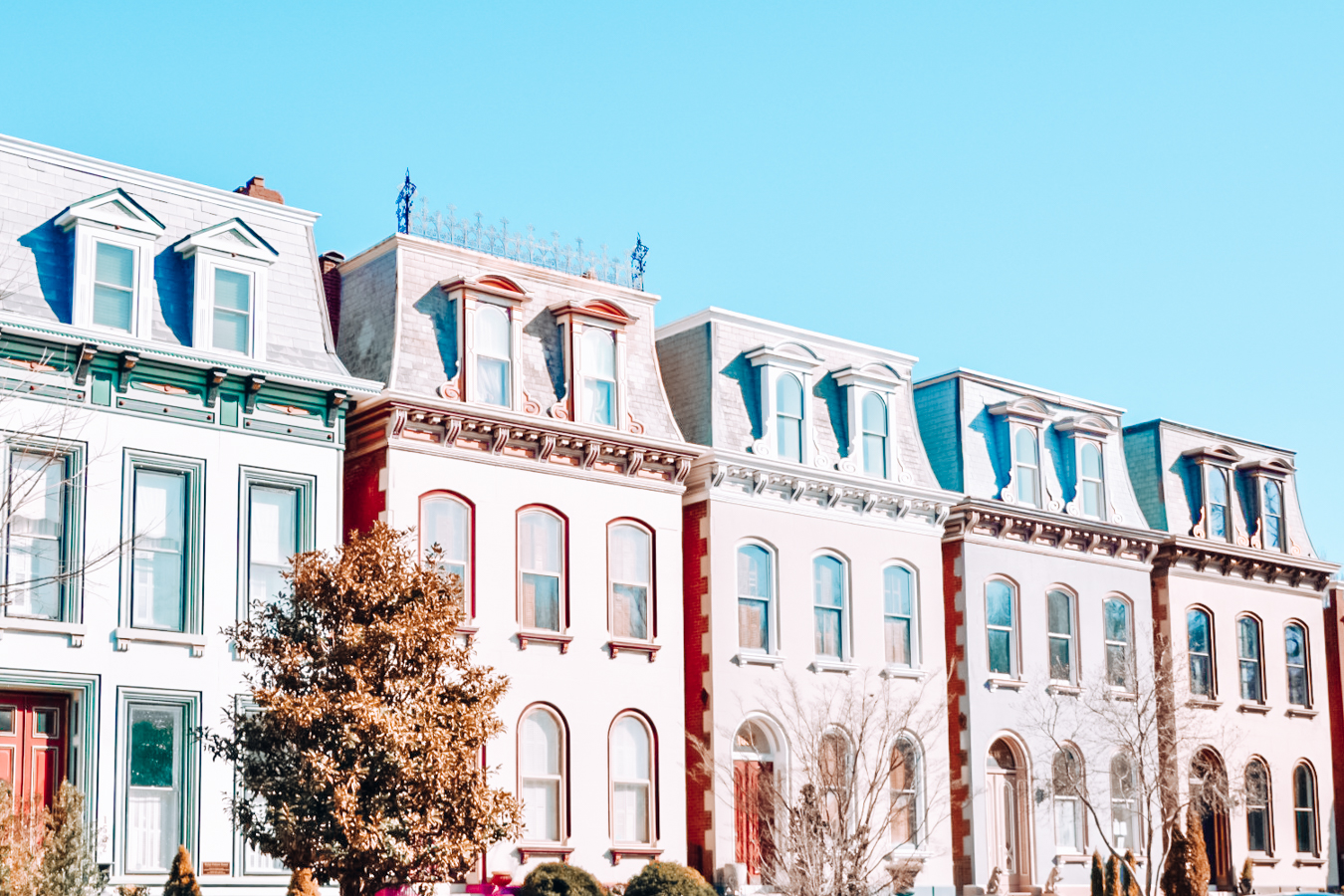 Colorful houses in St. Louis