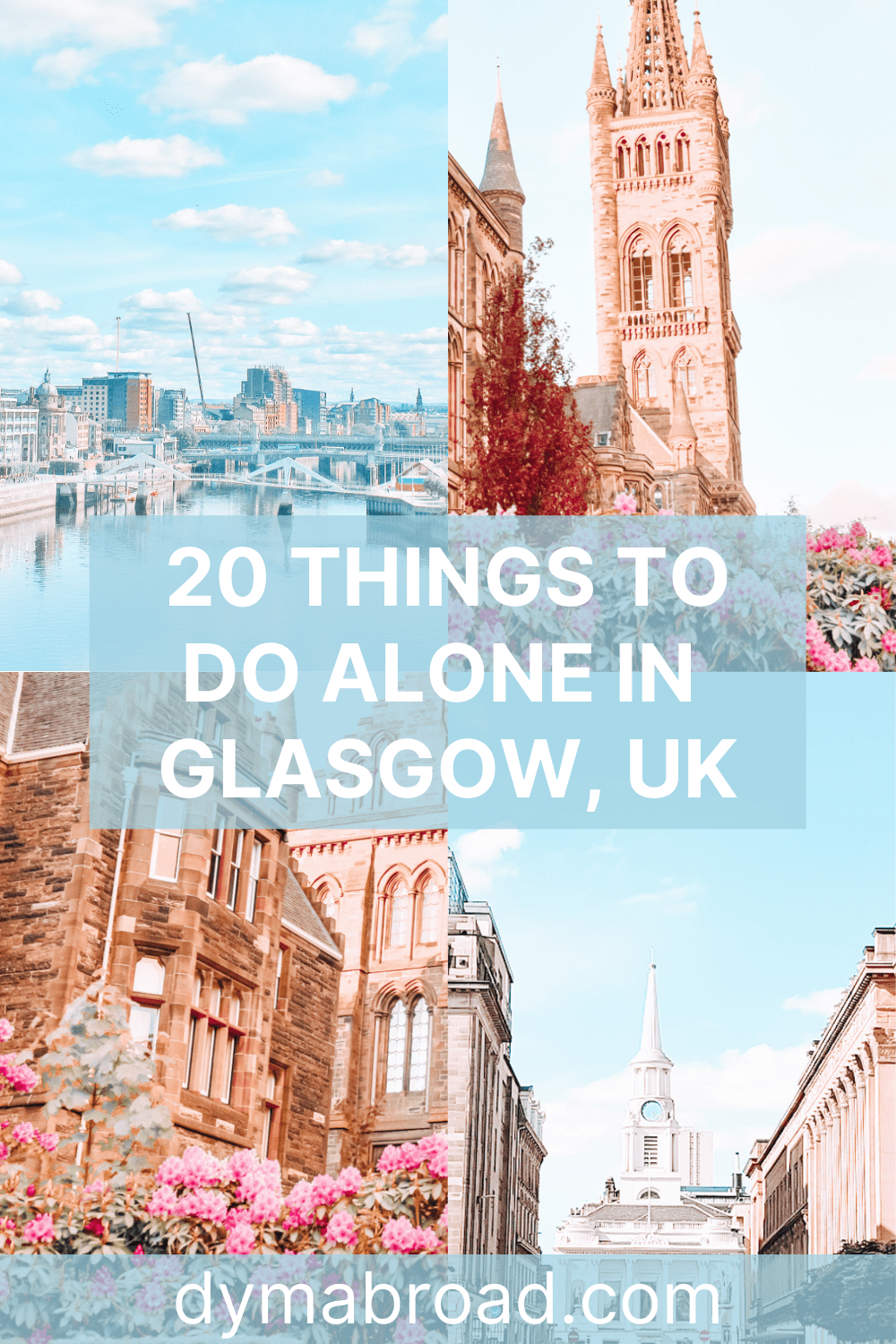 Things to do alone in Glasgow Pinterest image