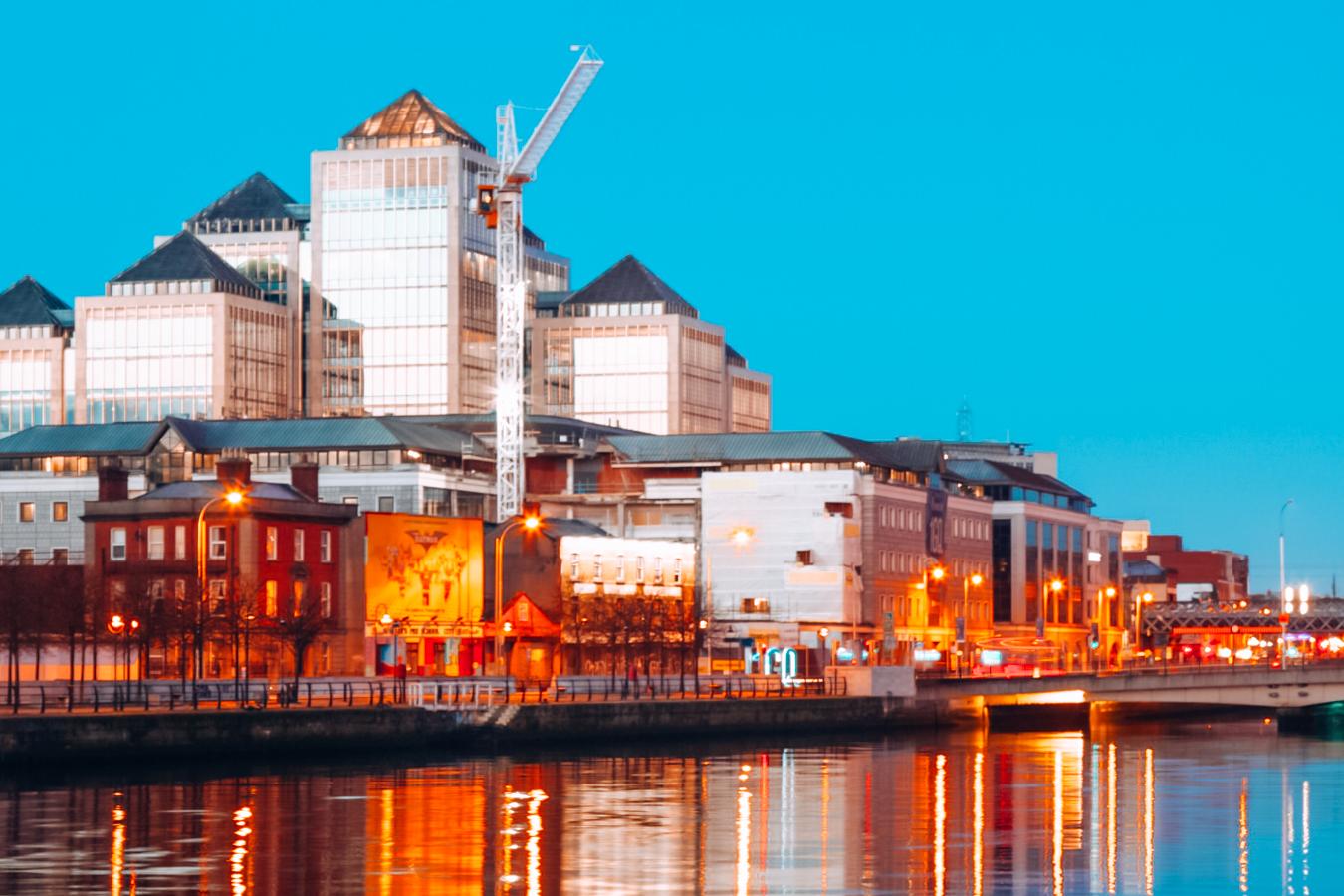 Dublin in the evening