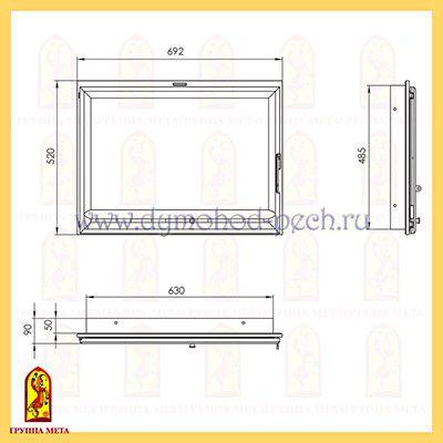 Дверь каминная Оптима 701 схема
