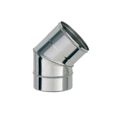 Колено для дымохода 45° ст.1 мм нерж