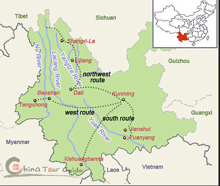 Map Kunming to Jianshui