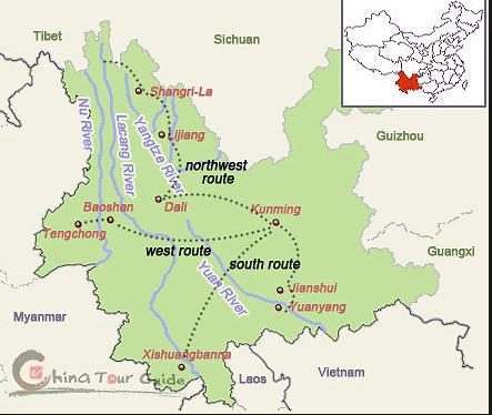 Map Kunming to Jianshui