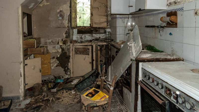 Buyers will have their work cut out in renovating the properties.