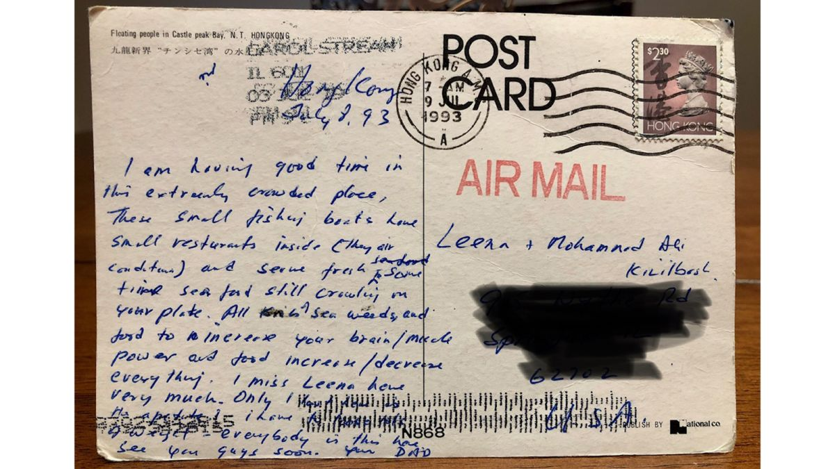 a postcard mailed from