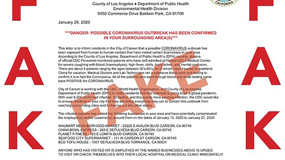 Coronavirus hoaxes are spreading in the US as the outbreak grows ...