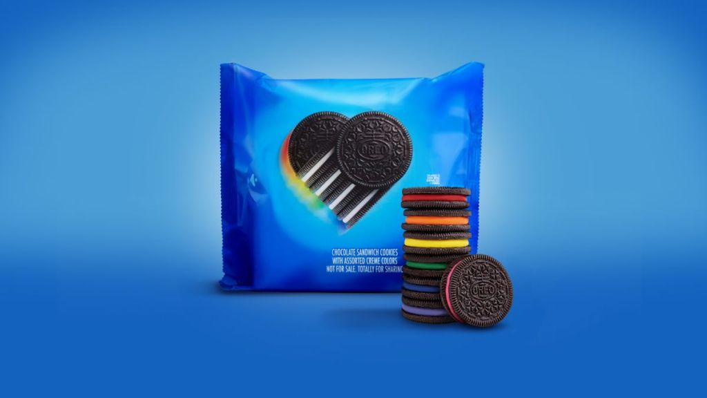 Oreo cookies declaring that trans people do, in fact, exist.