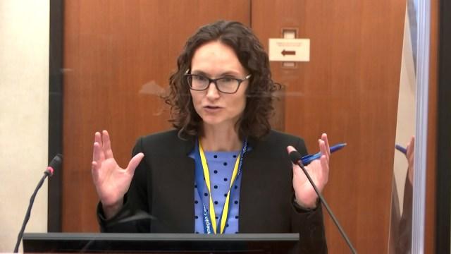 Prosecuting attorney Erin Eldridge