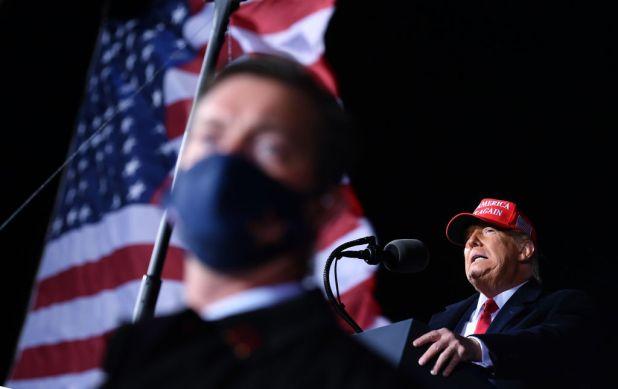 Trump speaks in Wisconsin on Friday.