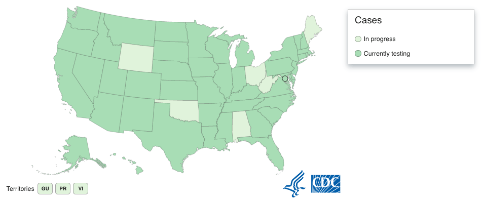 6 US states are not currently testing for novel coronavirus