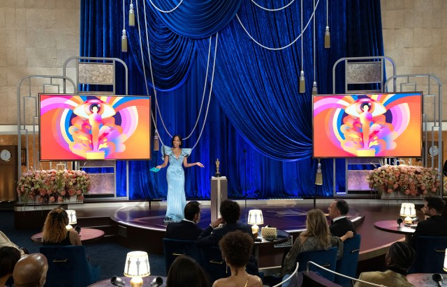 Regina King speaks onstage during the 93rd Annual Academy Awards at Union Station on April 25 in Los Angeles.