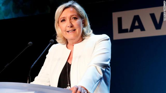 Far-right National Party leader Marine le Pen at campaign headquarters, on May 26, 2019 in Paris.