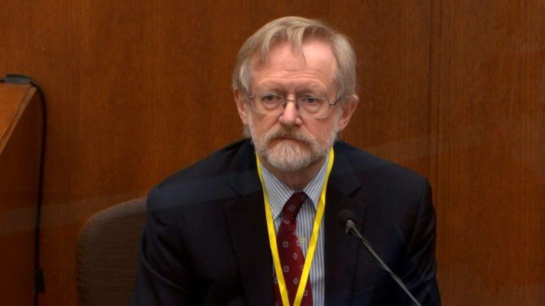 Dr. Martin Tobin testifies on Thursday, April 8.