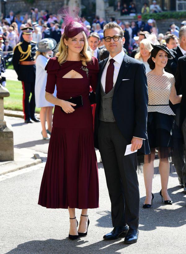 Actor Gabriel Macht and wife Jacinda Barrett arrive on Saturday.