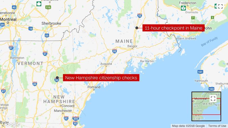 Border Patrol Interior Checkpoints Map