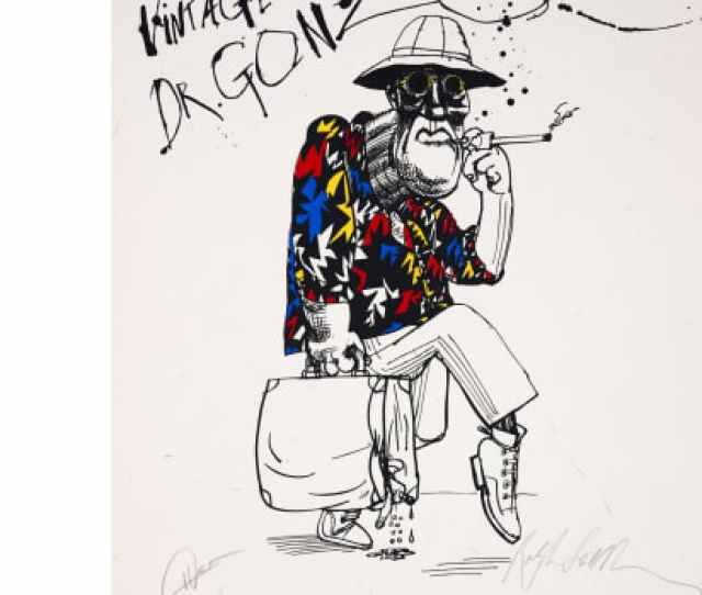Ralph Steadman Vintage Dr Gonzo Hunger