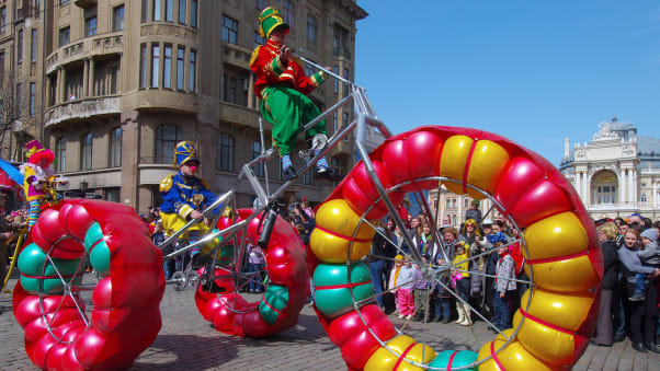 Odessa celebrates the Humorina Carnival, or festival of humor, each year on April 1.