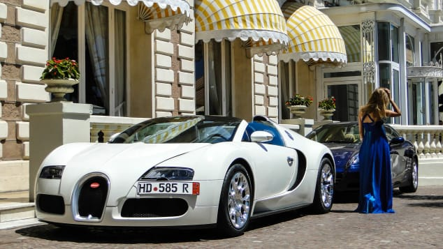 A million dollars worth of diamonds and a Bugatti? Sure why not.