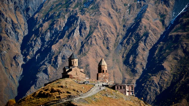 Hiking-in-Georgia---Gergeti-Trinity-Church---KIRILL-KUDRYAVTSEV-Getty