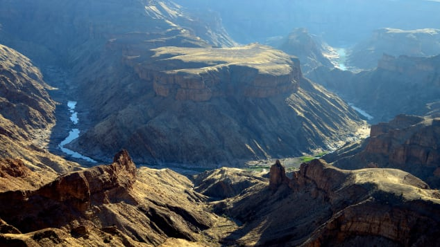 Namibia's Fish River Canyon is second only to the Grand Canyon in size.