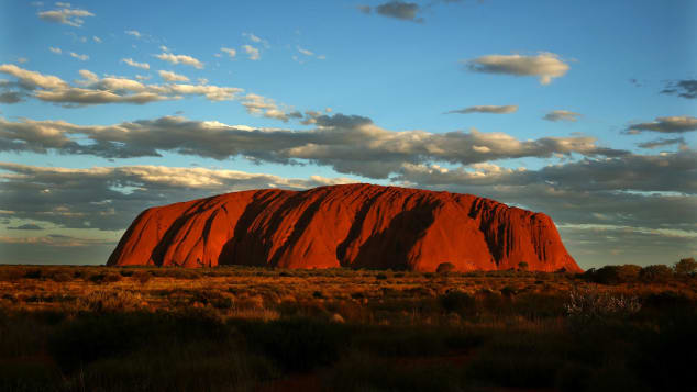 Uluru, located in the interior of the country and once known as Ayers Rock, is a spiritual symbol of Australia.
