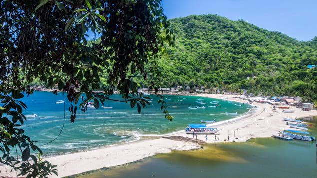 The stunning beach of Yelapa,  Riviera Nayarit, Mexico