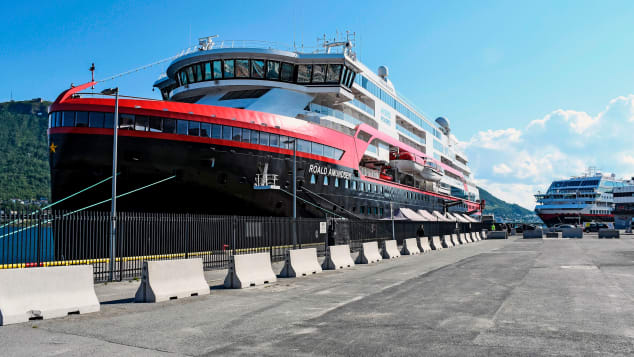 Passeners on board cruise ship MS Roald Amundsen were quarantined in August after crew members contracted Covid-19.