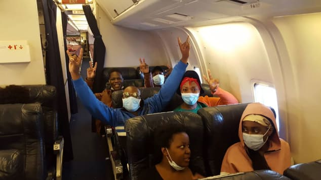 The epic repatriation flight was made up of more than a hundred South Africans and a couple of dozen Zimbabwean students who were also stuck in China.
