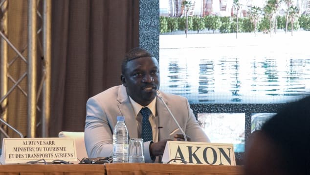 Akon told a press conference that work would begin on his city in 2021.