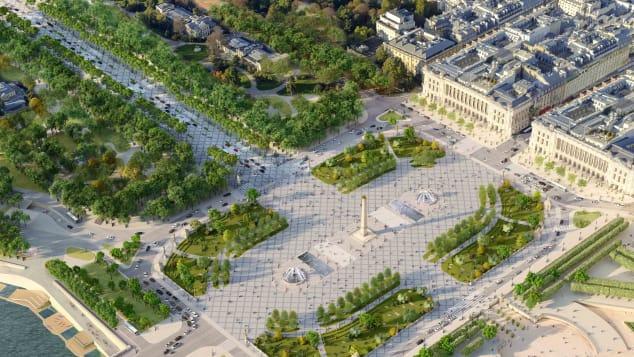 Place de la Concorde will also be rejuvenated.