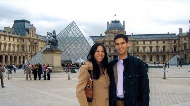 La pareja en París juntos en 2006.