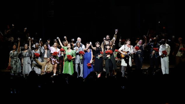 """The cast of """"Hadestown"""" celebrated their first post-shutdown performance on September 2."""