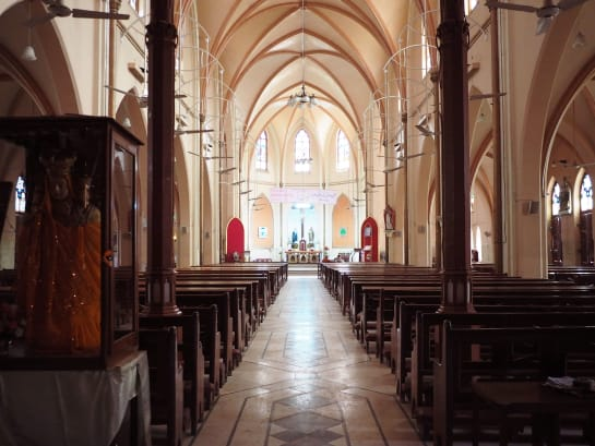 detail of interior of St Patricks's cathedral, Karachi