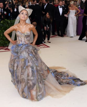 24 met gala red carpet ariana RESTRICTED