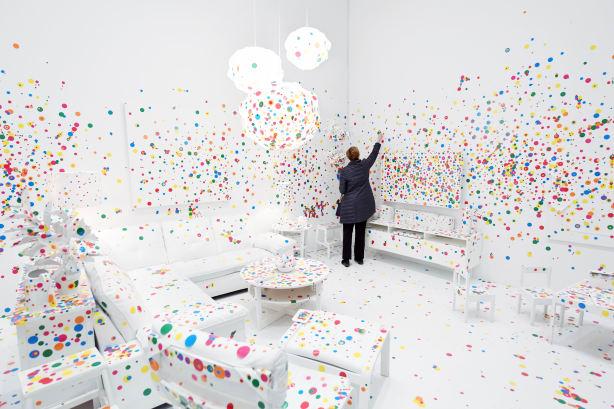 Yayoi Kusama Obliteration Room RESTRICTED