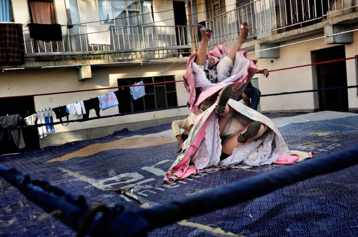 Flying Cholitas wrestling in Bolivia