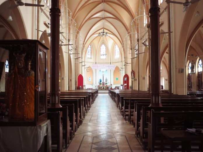 An interior shot of St Patrick's Catholic cathedral in Karachi.